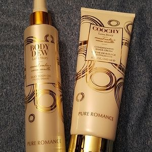 combo pure romance body oil and shave cream
